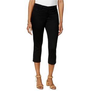 NYDJ Black Alina Skinny Cropped Capri Jeans